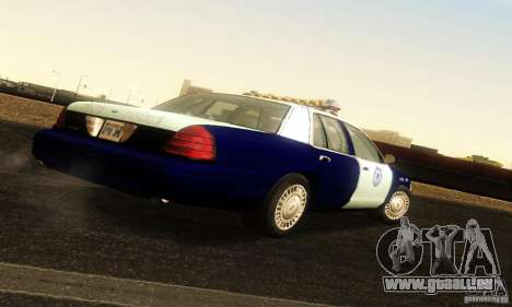 Ford Crown Victoria Masachussttss Police für GTA San Andreas linke Ansicht