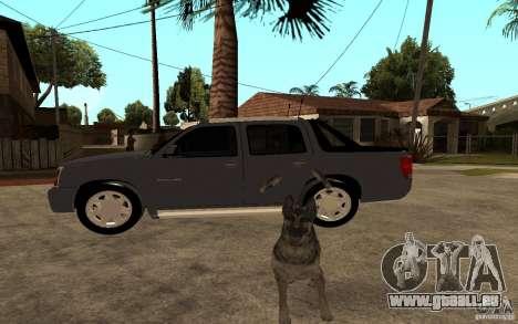 Cadillac Escalade pick up pour GTA San Andreas laissé vue