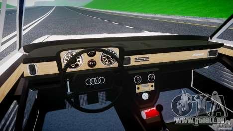 Audi 100 Coupe S pour GTA 4 vue de dessus
