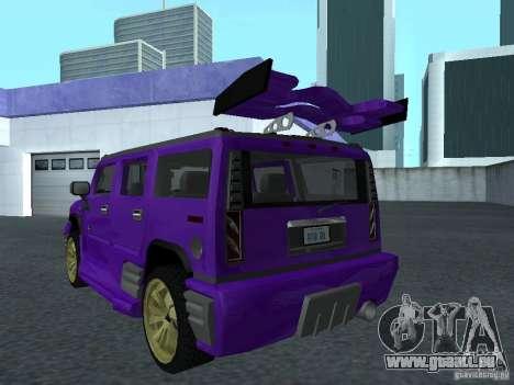 HUMMER H2 Tunable für GTA San Andreas linke Ansicht