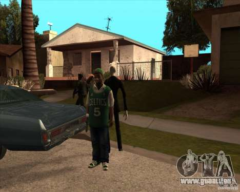 Slender en lunettes noires pour GTA San Andreas deuxième écran