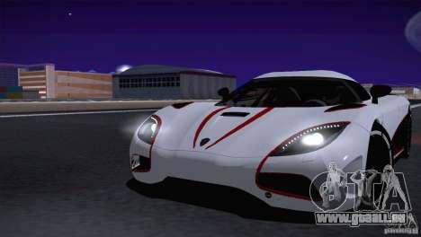 Koenigsegg Agera R 2012 pour GTA San Andreas vue arrière