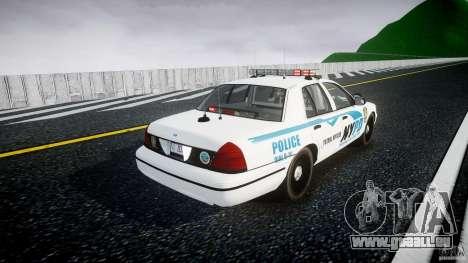 Ford Crown Victoria v2 NYPD [ELS] pour GTA 4 est un côté