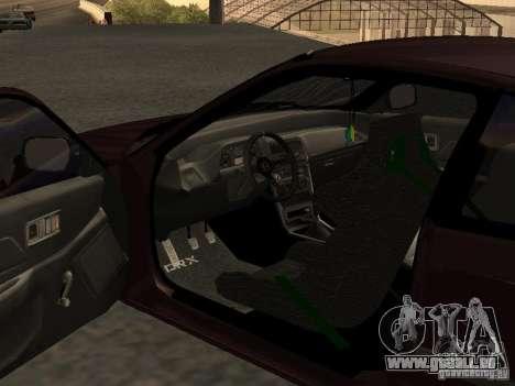 Honda Civic CRX JDM pour GTA San Andreas vue intérieure