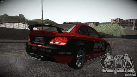 BMW 135i Coupe Road Edition pour GTA San Andreas salon