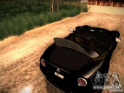 Alfa Romeo 8C Spider 2012 für GTA San Andreas Innenansicht