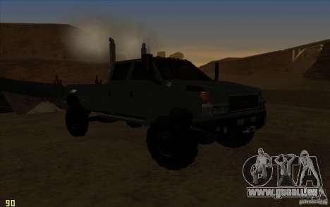 GMC Topkick Ironhide TF3 für GTA San Andreas Rückansicht