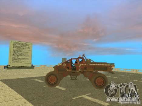 Jeep from Red Faction Guerrilla für GTA San Andreas zurück linke Ansicht