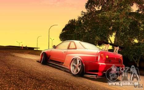 Nissan Skyline GT-R34 pour GTA San Andreas laissé vue