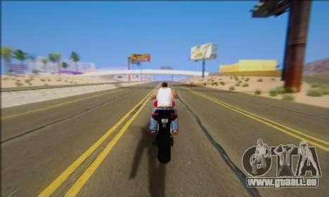 Honda CB600F Hornet 2012 pour GTA San Andreas vue intérieure