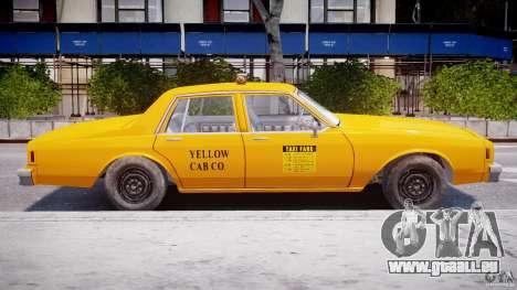 Chevrolet Impala Taxi 1983 pour GTA 4 Vue arrière de la gauche
