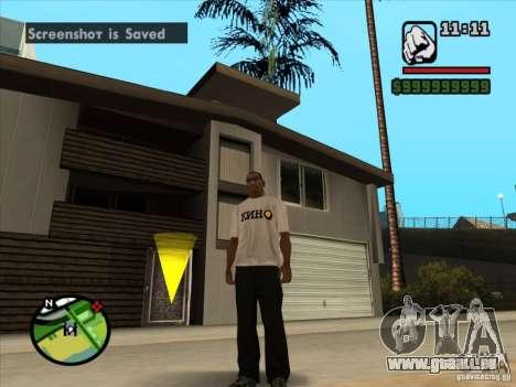 T-Shirt Filme für GTA San Andreas zweiten Screenshot