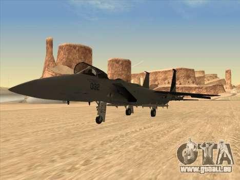 F-15C für GTA San Andreas zurück linke Ansicht
