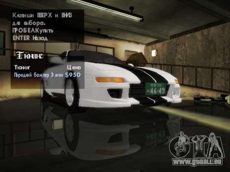 Toyota MR2 GT pour GTA San Andreas vue de côté