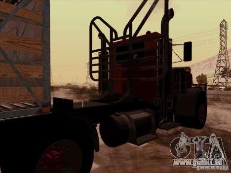 Peterbilt 359 Day Cab für GTA San Andreas Rückansicht