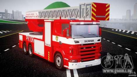 Scania R580 Fire ladder PK106 [ELS] für GTA 4 rechte Ansicht