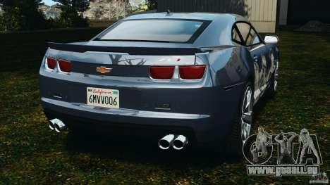Chevrolet Camaro ZL1 2012 v1.0 Smoke Stripe für GTA 4 hinten links Ansicht