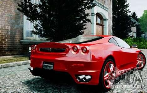 Ferrari F430 pour GTA 4 Vue arrière de la gauche