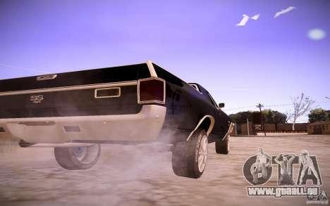 Chevrolet El Camino SS 1970 pour GTA San Andreas vue arrière