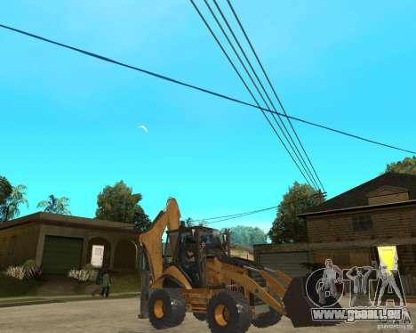 Lastik Tekerli Dozer pour GTA San Andreas vue de droite