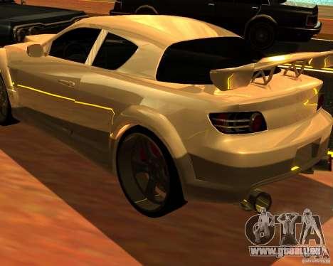 Mazda RX8 pour GTA San Andreas laissé vue
