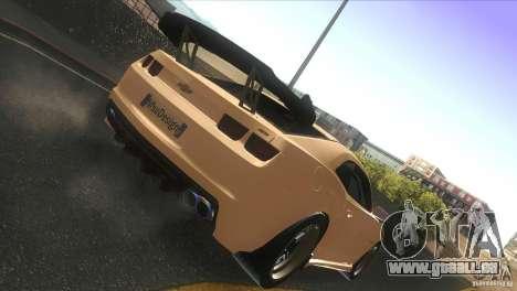 Chevrolet Camaro SS Dr Pepper Edition für GTA San Andreas Rückansicht