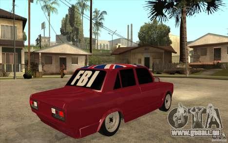 VAZ 2107 Hobo v. 2 für GTA San Andreas rechten Ansicht