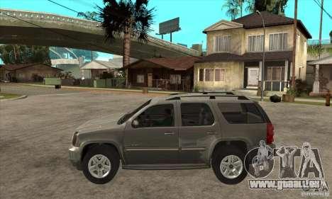 GMC Yukon 2008 pour GTA San Andreas laissé vue