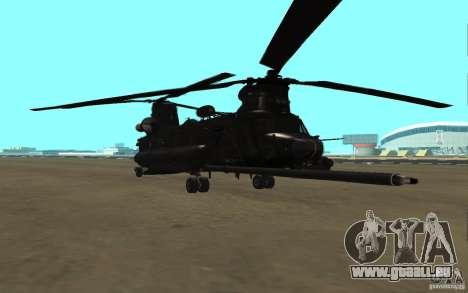 MH-47G Chinook pour GTA San Andreas laissé vue