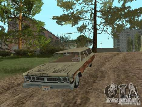 Chrysler Town and Country 1967 pour GTA San Andreas vue intérieure