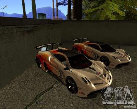 Pagani Huayra SHE pour GTA San Andreas vue arrière