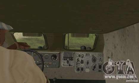 BRDM-1 peau 4 pour GTA San Andreas vue intérieure