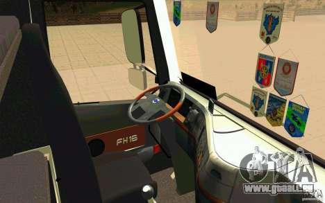 Volvo FH16 Globetrotter TRANSALLIANCE pour GTA San Andreas vue de droite