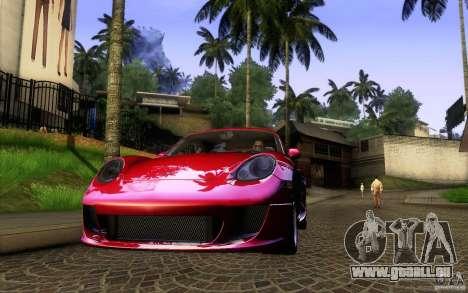 Ruf RK Coupe V1.0 2006 pour GTA San Andreas vue de droite