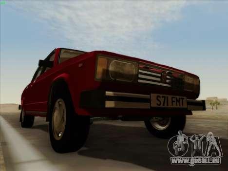 LADA 2105 RIVA (exportation) 2.0 pour GTA San Andreas vue de dessus