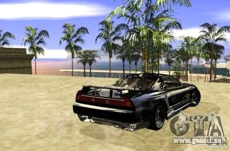 Acura NSX Tuned pour GTA San Andreas vue de droite