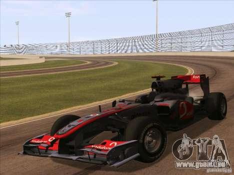 McLaren MP4-25 F1 pour GTA San Andreas sur la vue arrière gauche