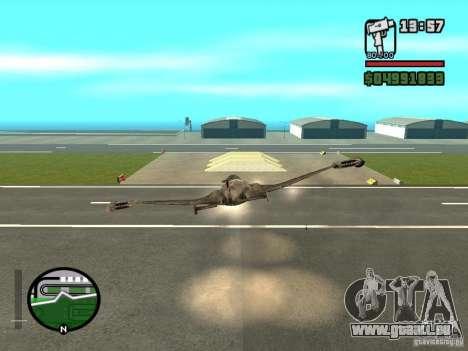 Future Army Jet pour GTA San Andreas vue de droite