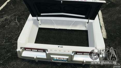 Dodge Monaco 1974 Police v1.0 [ELS] pour GTA 4 est une vue de l'intérieur