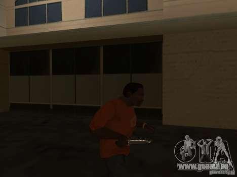 Knife Chrome pour GTA San Andreas troisième écran