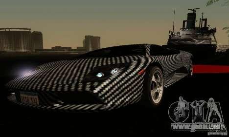 Lamborghini Murcielago für GTA San Andreas obere Ansicht