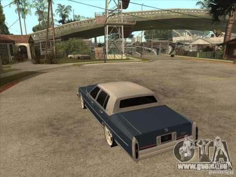 Cadillac Fleetwood Brougham 1985 pour GTA San Andreas sur la vue arrière gauche