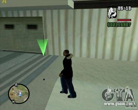Lancer une boule de neige pour GTA San Andreas deuxième écran