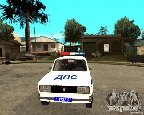 VAZ 2105 DPS für GTA San Andreas Rückansicht