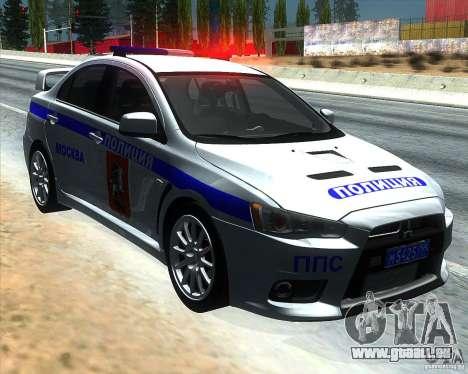 Mitsubishi Lancer Evolution X PPP Polizei für GTA San Andreas