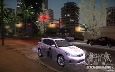 Lexus CT200H 2011 für GTA San Andreas linke Ansicht
