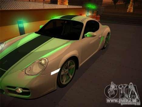 Porsche Cayman S Snow pour GTA San Andreas vue de droite