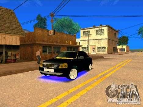 LADA 2170 Priora Gold Edition pour GTA San Andreas vue de côté