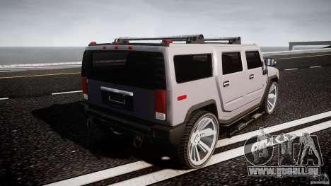 Hummer H2 pour GTA 4 vue de dessus