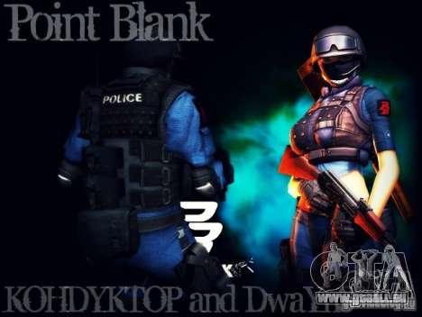 SWAT de Point Blank pour GTA San Andreas deuxième écran